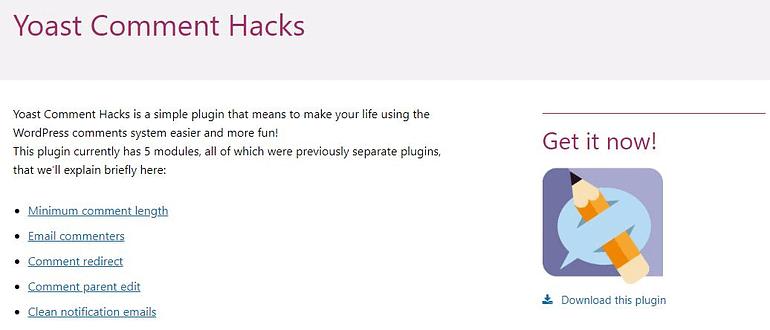 Yoast WordPress Comment Hack