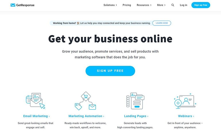 GetResponse - Mailchimp Alternative Email Marketing Program