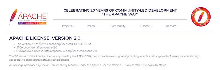 Apache - Open Source License