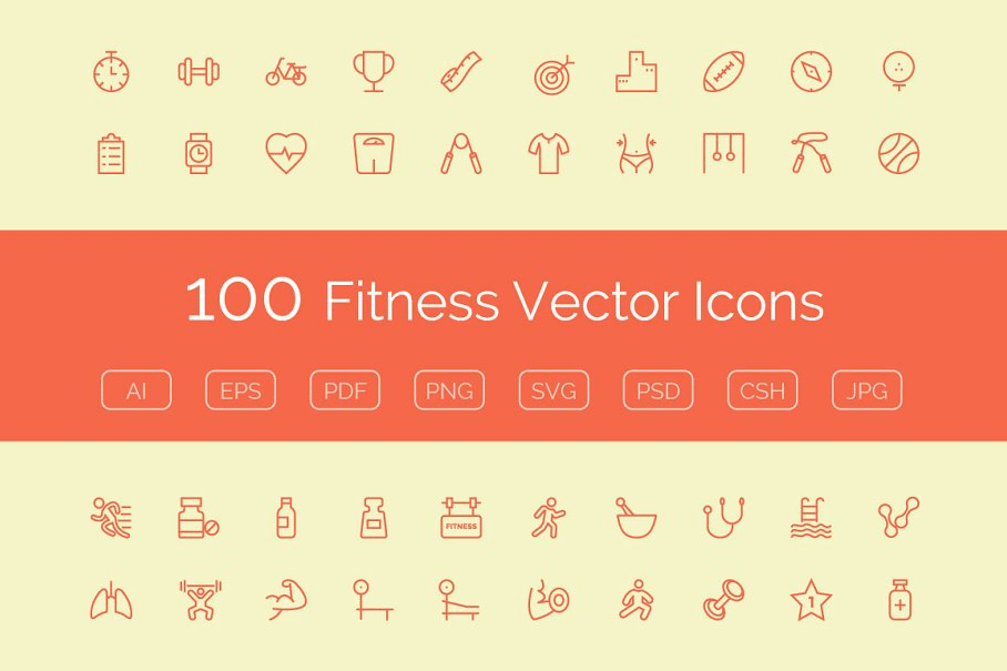 Fitness Vector Icons graphic resources