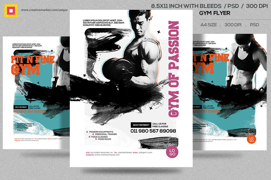 Gym Flyer graphic resources