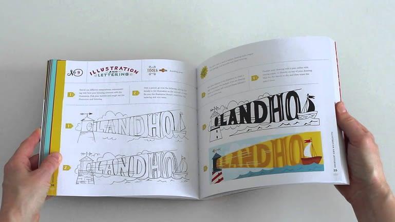 Hand Lettering Ledger Typography Books