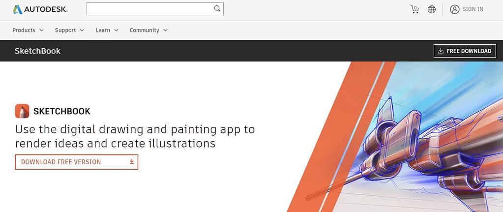 SketchBook free animation software