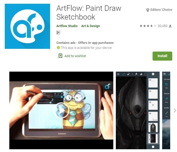 6. ArtFlow an excellent app for artists min
