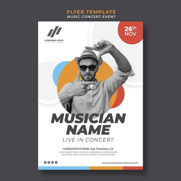 Flyer template for live concert min