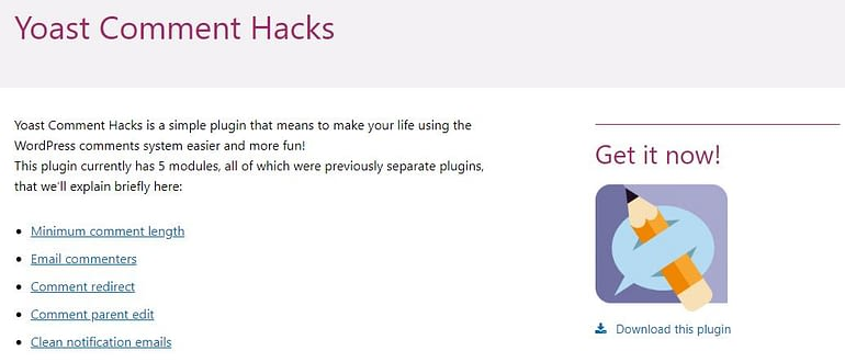 Yoast WordPress Comment Hack