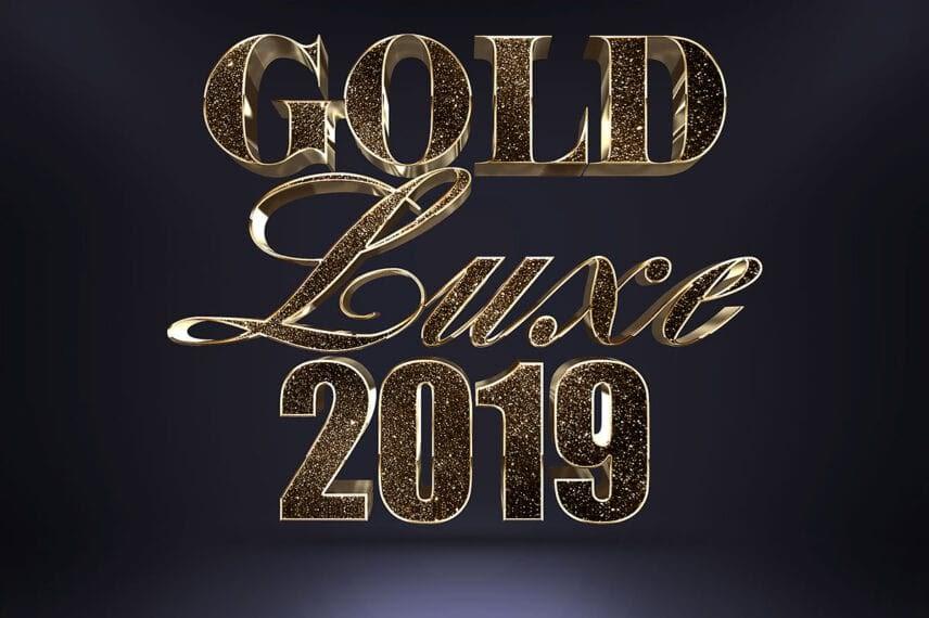 Glitter Gold 3D PhotoShop Text Effect min