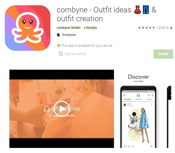 5. Get good outfit ideas with Combyne min
