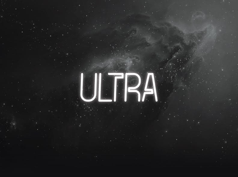 Ultra – Best Futuristic Fonts min