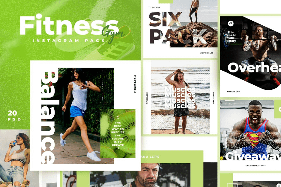 Fitness & Gym Templates graphic resources