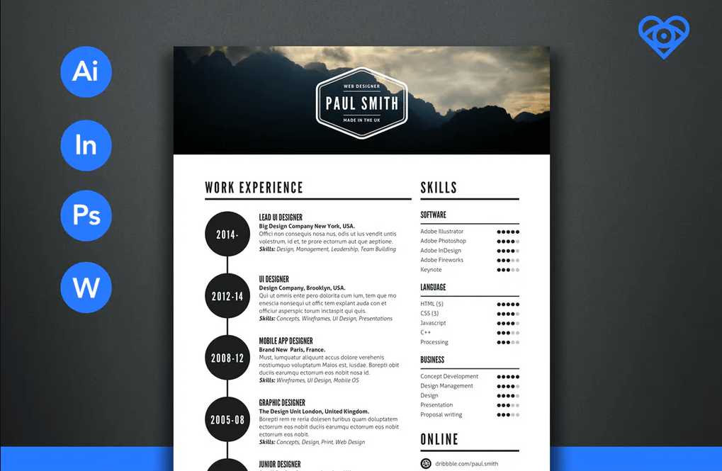 2019 Retro Style Resume Templates
