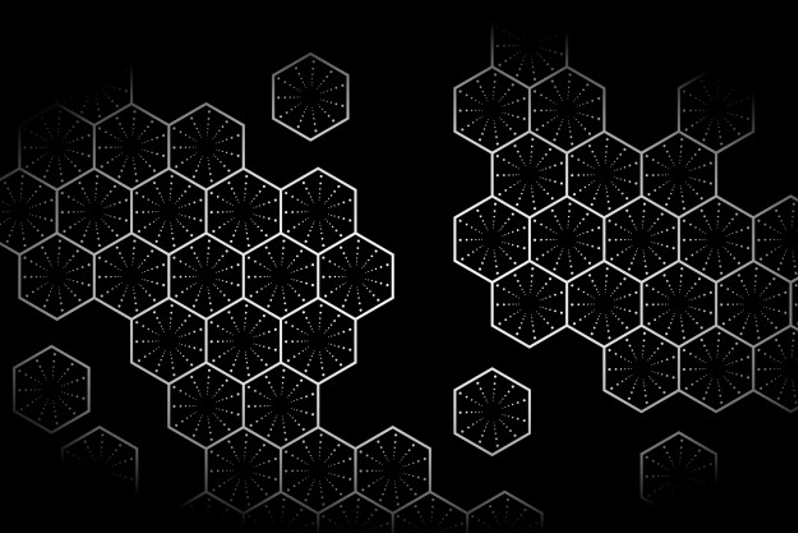 White hexagon with dark background (Carbon Fiber Textures)