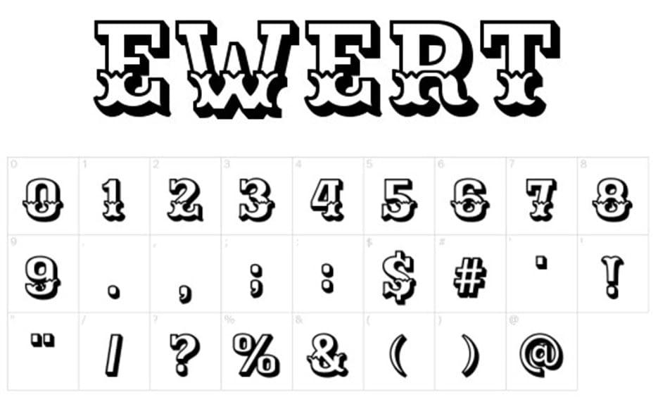 Best Number Fonts - Ewert-Font