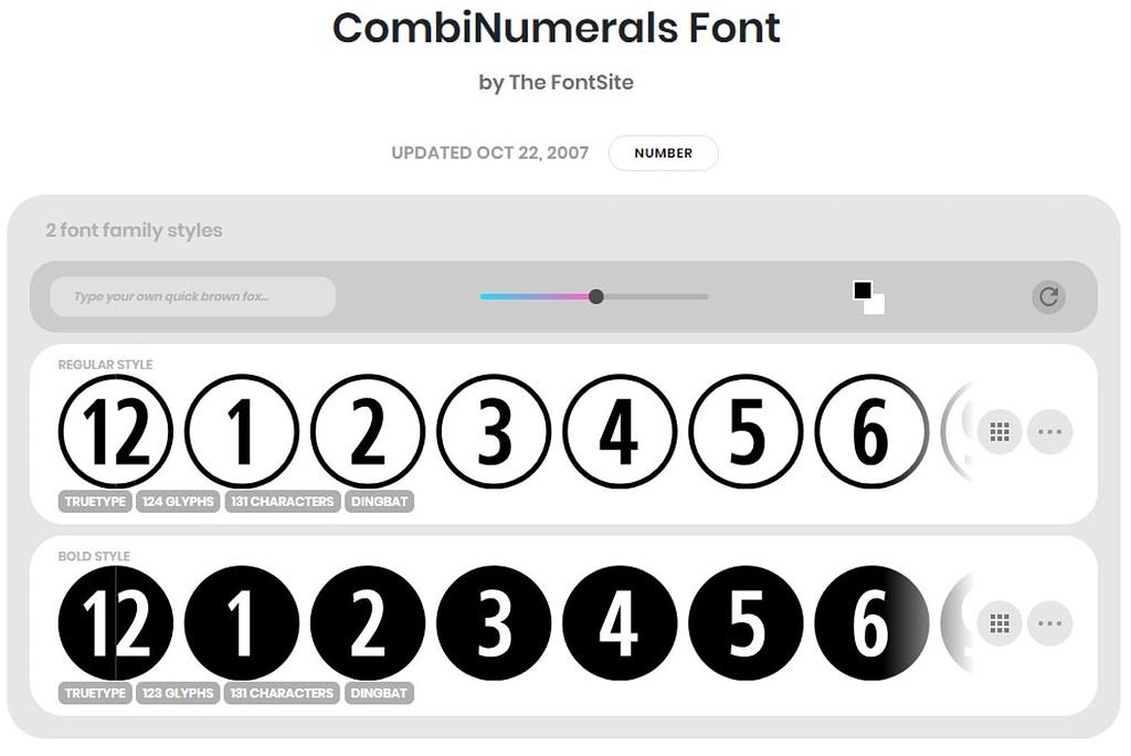 CombiNumerals Font min
