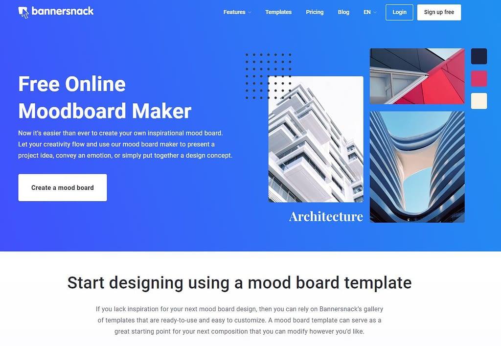 bannersnack mood board maker