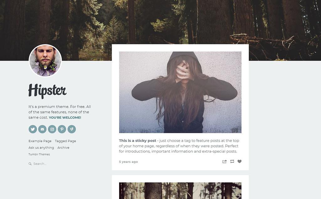 Free Tumblr Blog Theme