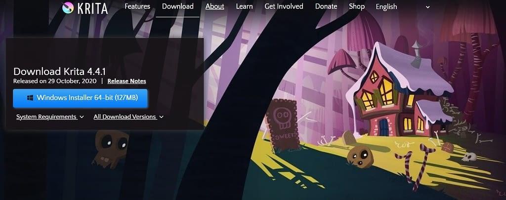 free animation software krita