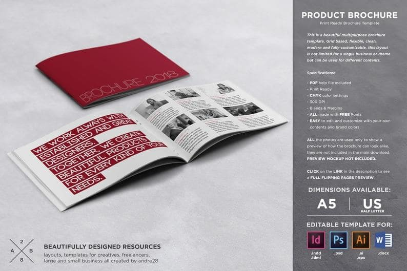 22. Product Brochure Template by TheTemplateTemple min