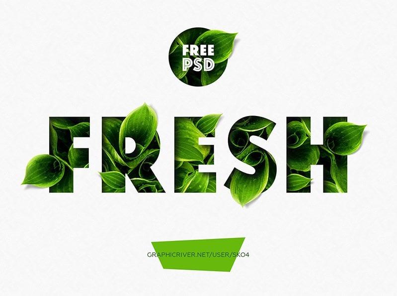 'Fresh PhotoShop Text Effect min