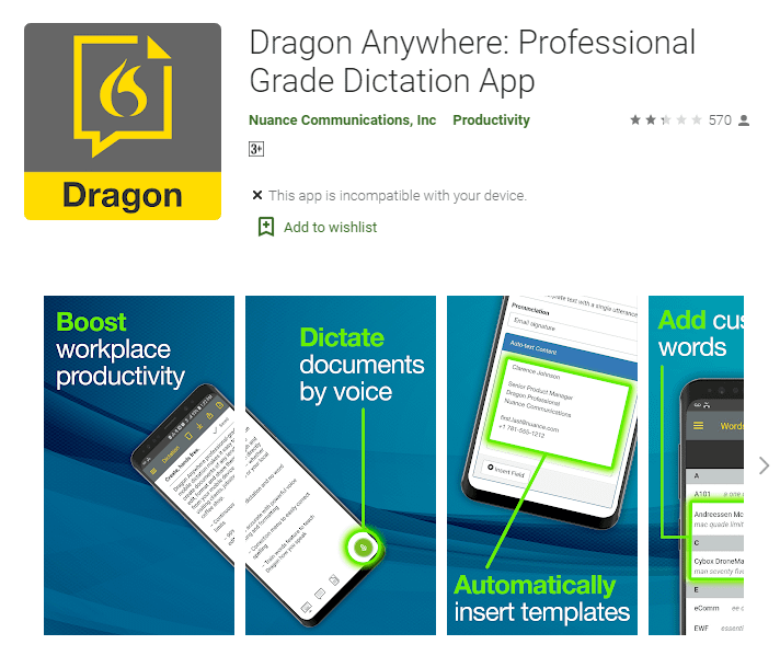 Dragon Dictation Free