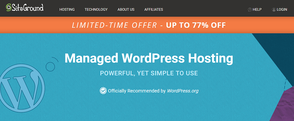 1. SiteGround WordPress Hosting Page min