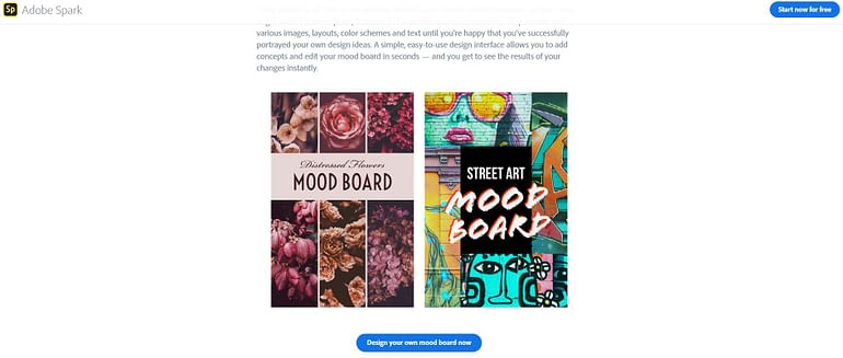 Adobe Spark - Mood Board Maker