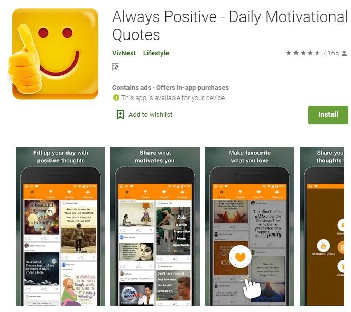 3. Be always positive min