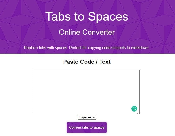13. Tab to Space min