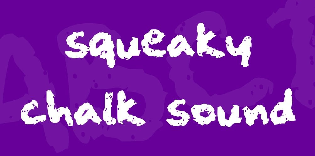 25. Squeaky Chalk Font min