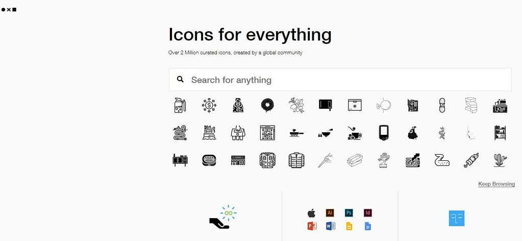 Free icons at the noun project