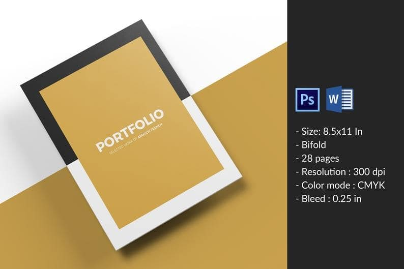 23. Portfolio Template Multipurpose Portfolio Brochure Ms. Word Photoshop template min