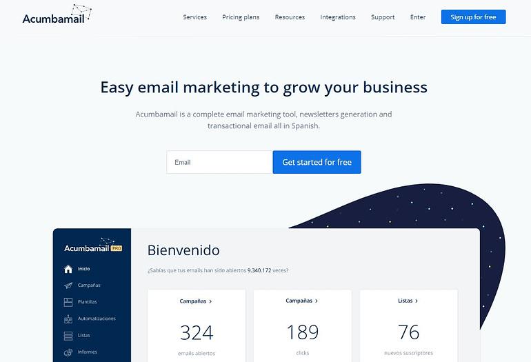 Acumbamail - Mailchimp Alternative Email Marketing Program