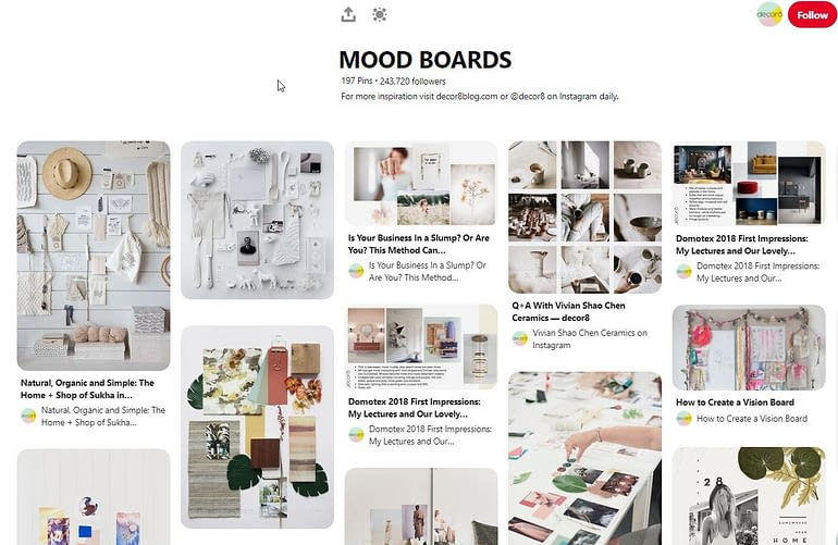Pinterest - Mood board ideas