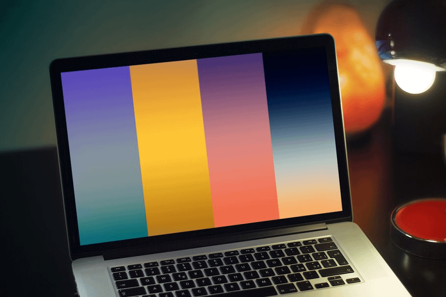Sunsets and Sunrises Gradients in Graphics Design