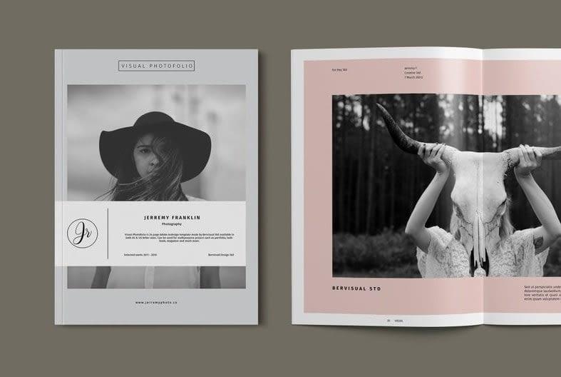 11. Photography Portfolio Template Photography Brochure Photography Catalog Photo Album InDesign Template min