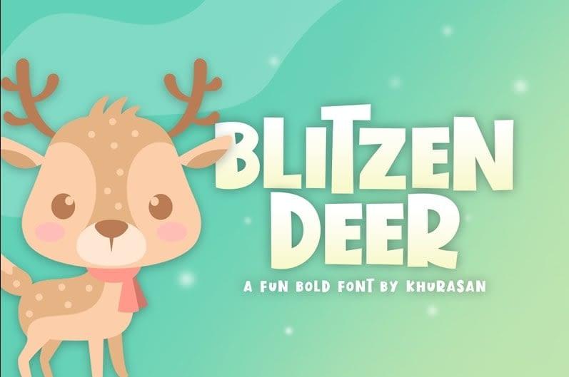33. Blitzen Deer min