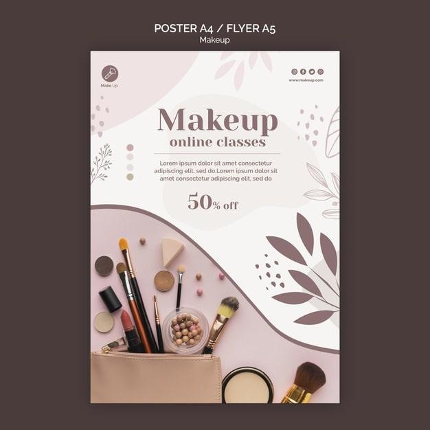 MakeUp flyer template min
