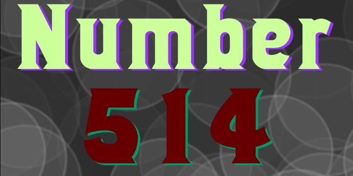 Number 514 – Best Number Fonts