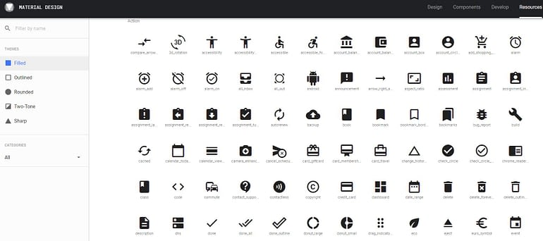 Download Material Design Icons