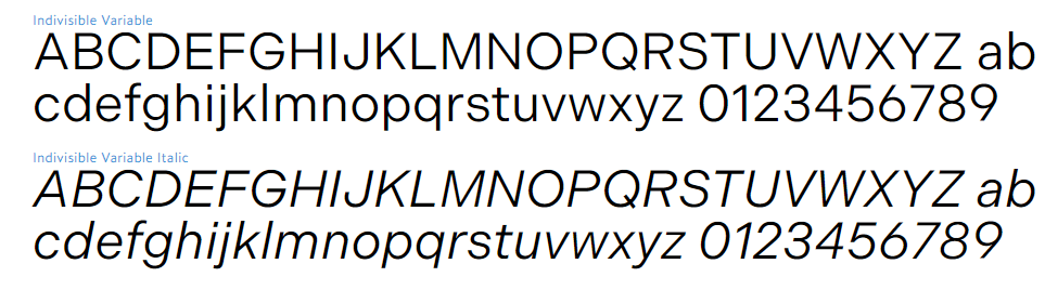 variable font
