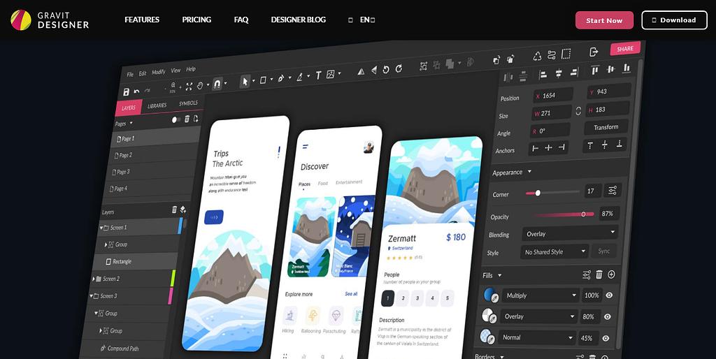 Gravit Designer free graphics tools