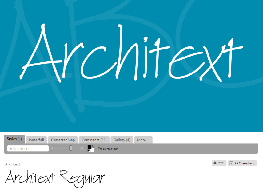 ArchiText handwriting fonts