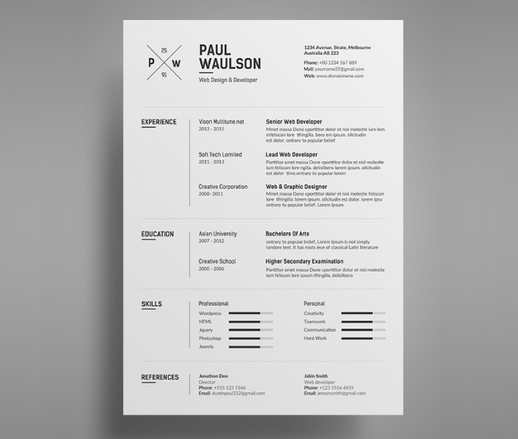 Simpler - Thе Curriculum Template Resume Templates