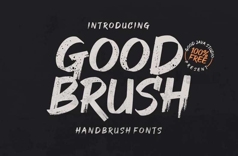 2. Senior – The Brush Font