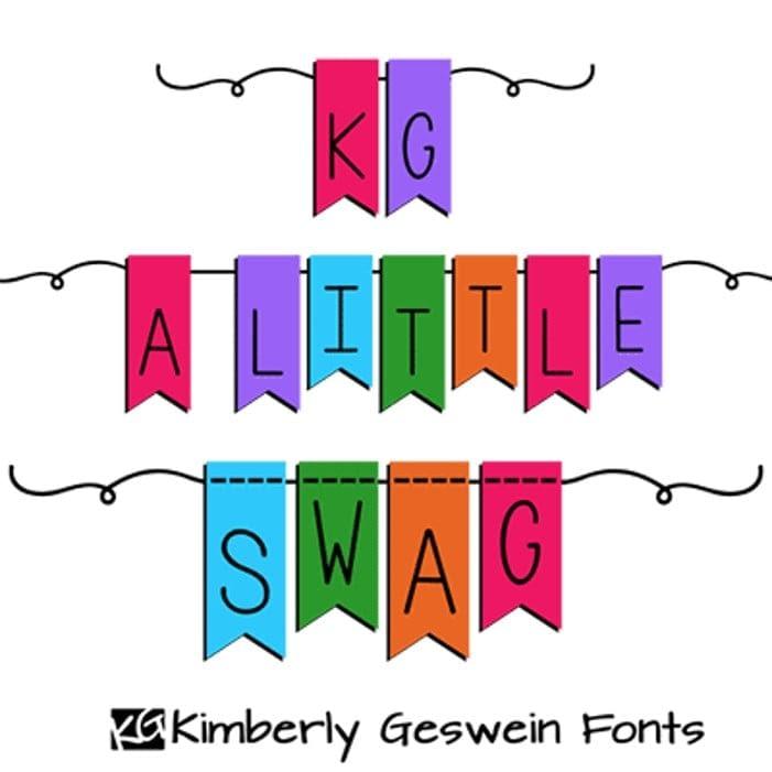 3. KG A Little Swag Font min