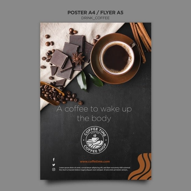 coffee poster template min