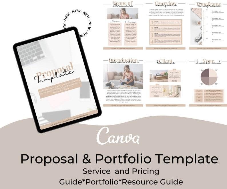 31. Canva Service and Pricing Guide Template Portfolio Template min