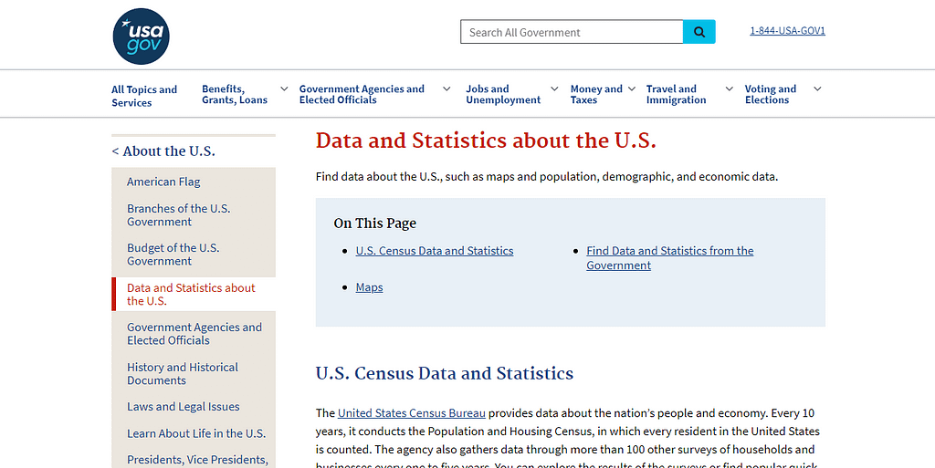 USA.gov Reference Center Sites For Statistical Research Data and Analytics
