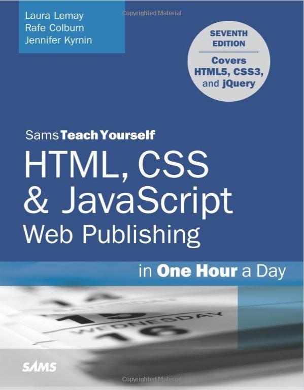 HTML CSS & Javascript web publishing Book