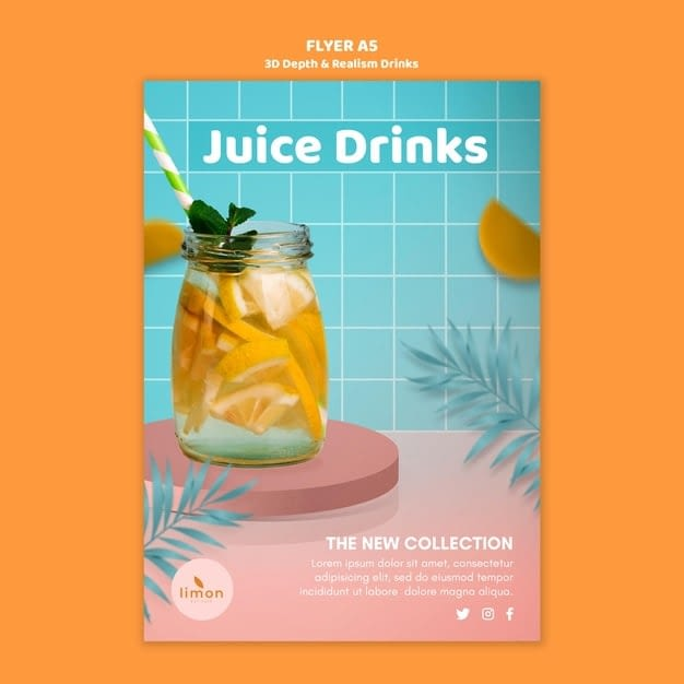3D depth and realism drinks flyer min